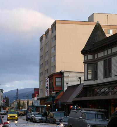 downtown-juneau-franklin-street-twilight (65k image)