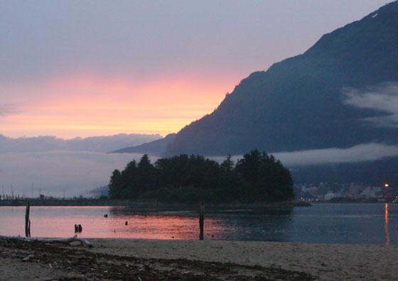 fog-bank-sunset-southeast-alaska (48k image)