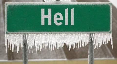 Hell freezing over (48k image)