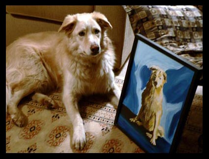 Example of a commission based on a photograph of a pet.