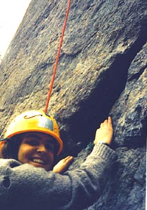 Jenni Williams rock climbing