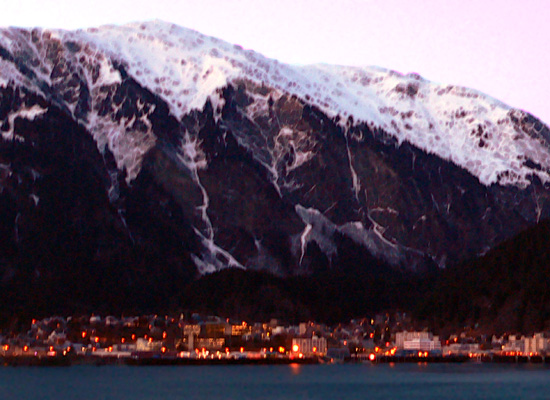 Twilight View Of Juneau Alaska From Douglas Island